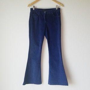 Theory Pants - Theory Blue Shimra Stretch Velvet Flare Pants - 2